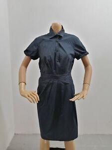 Vestitino-MOSCHINO-Donna-Taglia-Size-46-Dress-Woman-Cotone-Vestito-Blu-7648
