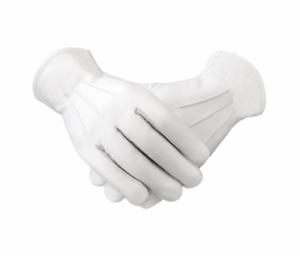 White-Leather-Masonic-Regalia-Gloves-Ceremonial-Bands-Military-Masonic-Service
