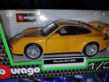 Porsche 911 GT2 Gialla - Scala 1:32 Die Cast - Bburago - Nuova