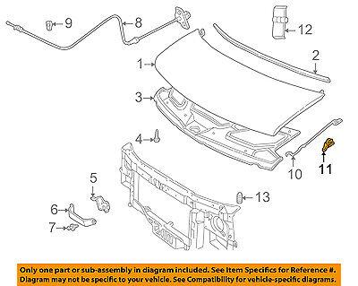 GM OEM Hood-Support Prop Rod Holder Clip Clamp 88891789