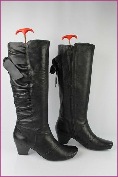 Boots HISPANITAS Black Leather T 40 MINT