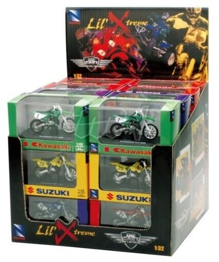 Set 24 Pièces Véhicules-jouets 1  3 2 Moto Cross Honda Kawasaki Suzuki Yamaha  meilleur choix