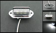 1 Chrome 6 Led Surface License Plate Light Tag Interior Step Trailer Truck Rv