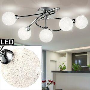 Design Chrom Decken Lampe Wohn Schlaf Zimmer ALU Kugel Strahler Beleuchtung