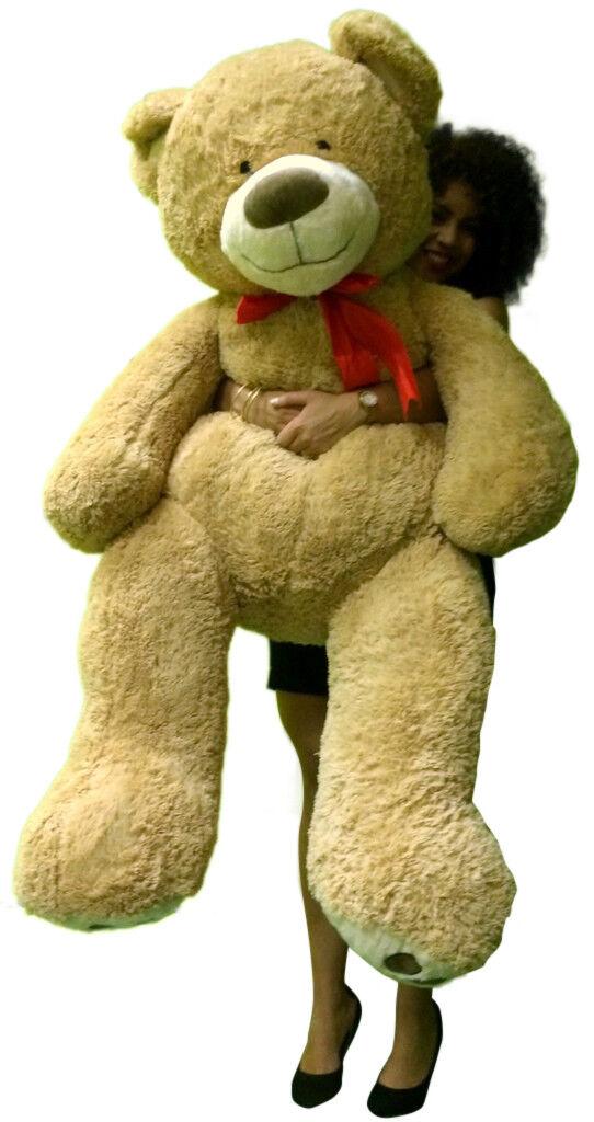 Huge Soft Teddy Bear 5 Feet Tall Big Plush Tan Teddybear  Giant Stuffed Animal