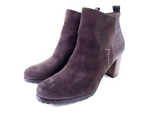 shopping shop finest selection Details about Paul Green Rockin Bootie Womens Brown Suede Metallic Zip  Ankle Boots UK 6 US 8.5