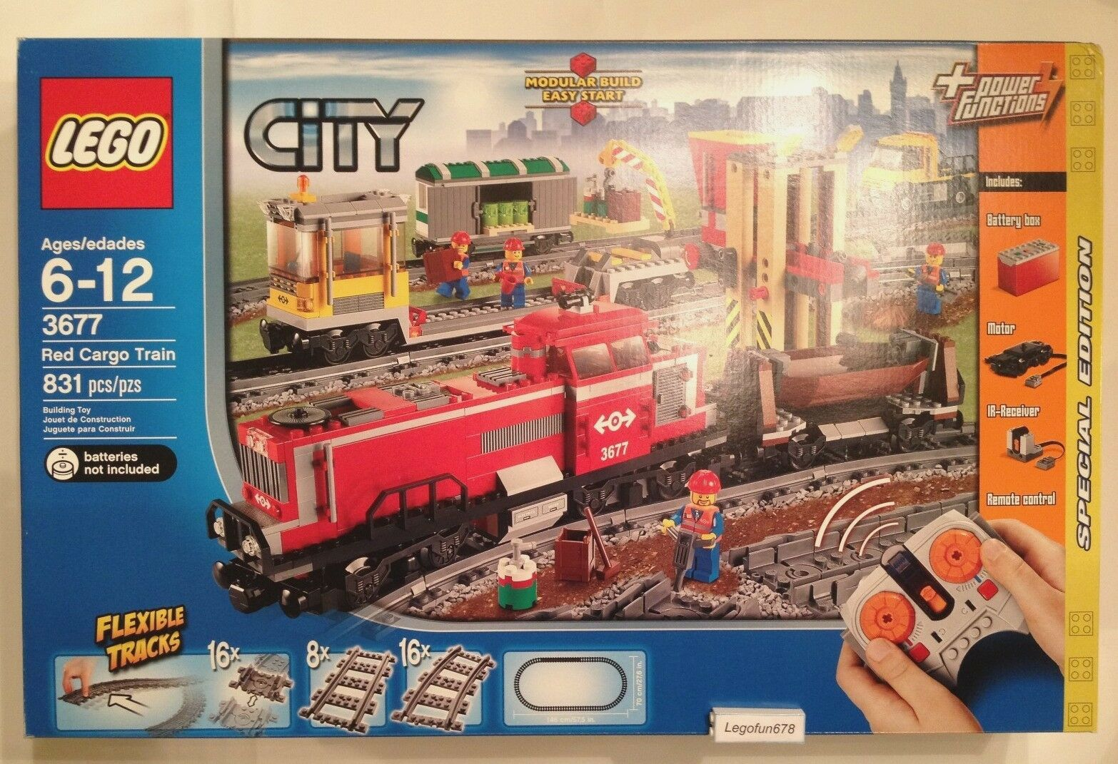 Lego City Trains 3677 Red Cargo Train Train Train Special Edition New In Factory Sealed Box bf0fd3