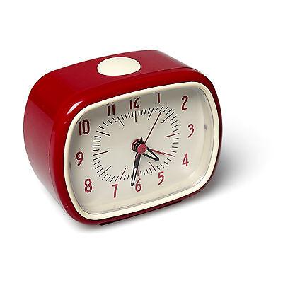 Rex London RED RETRO STYLE ALARM CLOCK