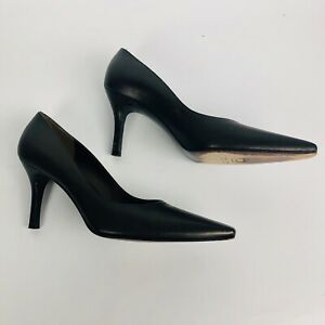 d1e8831ea4 Image is loading Stuart-Weitzman-Black-Suede-Pointed-Toe-Pumps-Size-