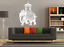 Any colour Elephant Decorated Indian Royal Wedding Vinyl wall sticker decal art