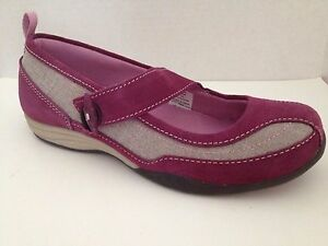 Lands-End-Shoes-Womens-Size-6-B-Sneakers-Purple-Loafer-Mary-Jane-6M-6B