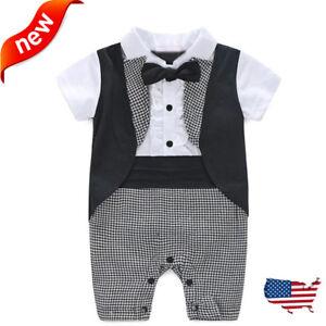 b877b068b Fashion Baby Boy Formal Party Christening Wedding Tuxedo Waistcoat ...
