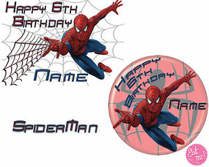 Spiderman-Personalised-Edible-Image-on-REAL-Icing-Birthday-Cake-Topper