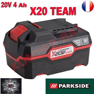 Batterie parkside 20v capacité 4 ah  pour les appareils de la série XTEAM 20V