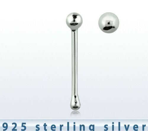 Tiny bola de plata esterlina para nariz Bobble final 69