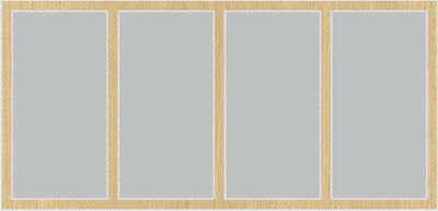 Discreet Sliding Wardrobe Silver Mirror 'fox' Doors To Suit 2700h X 3048mm W Home & Garden Furniture