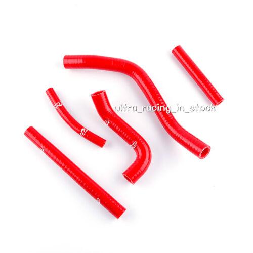 5PCS Red For 1996-2000 SUZUKI RM 250 RM250 96-00 Silicone Radiator Hose Kit
