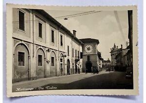 Cartolina-Bergamo-vera-foto-Martinengo-via-Cadino-anni-50-bianco-nero-viaggiata
