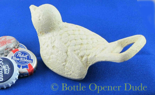 Reproduction of Classic Opener NEW! White BIRD Cast Iron Figural Bottle Opener