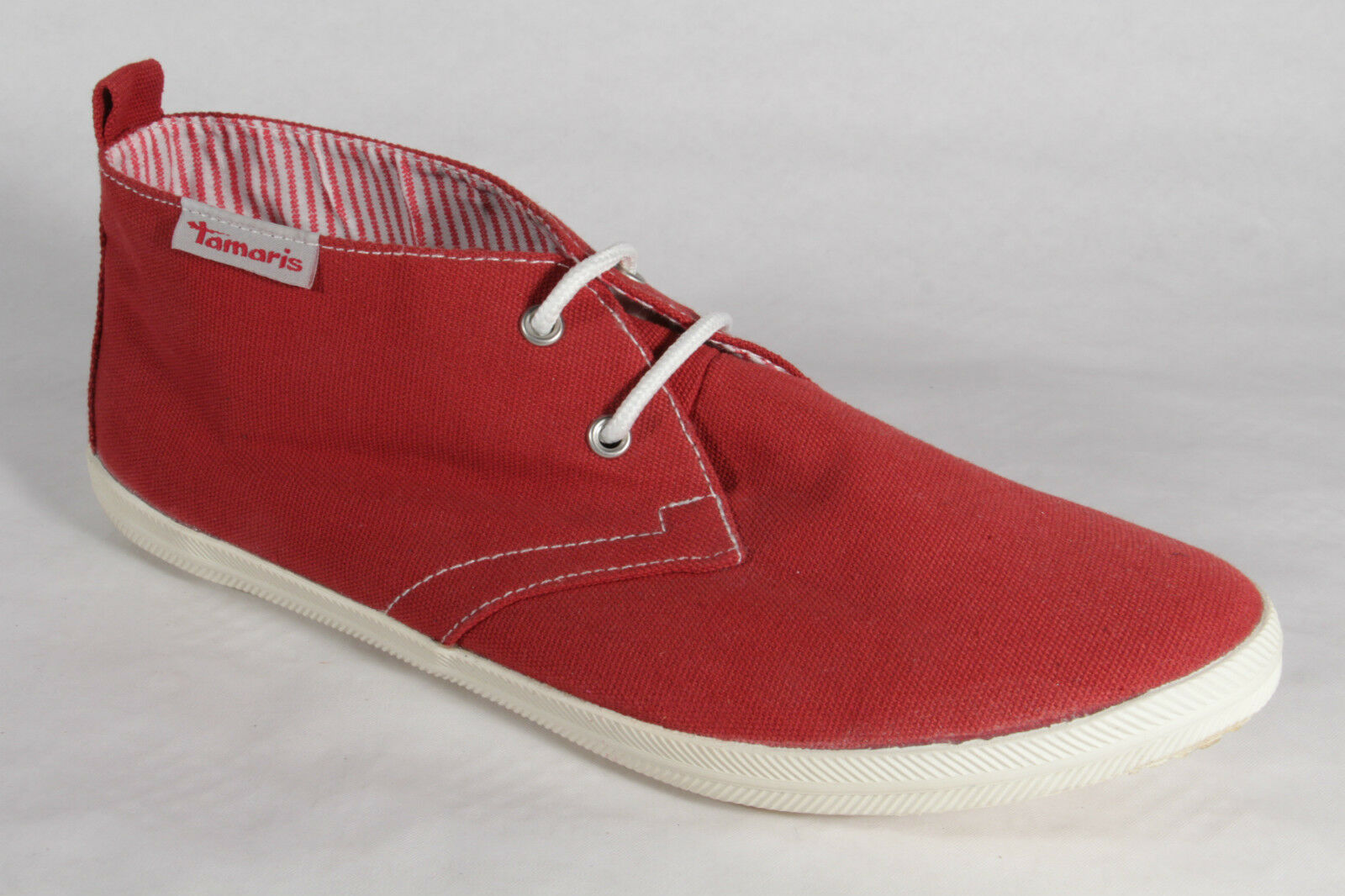 Women's Lace-Up shoes, Low shoes, Trainers, Fabric Red New