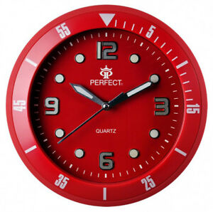 PERFECT-Designer-039-s-Wall-Clock-Silent-Sweep-Second-Hand-RED