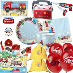 Feuerwehr Party Deko Kinder Geburtstag Mega Auswahl Fire