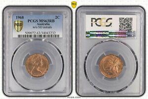 1968-AUSTRALIAN-2-cent-piece-no-S-D-PCGS-MS63RB