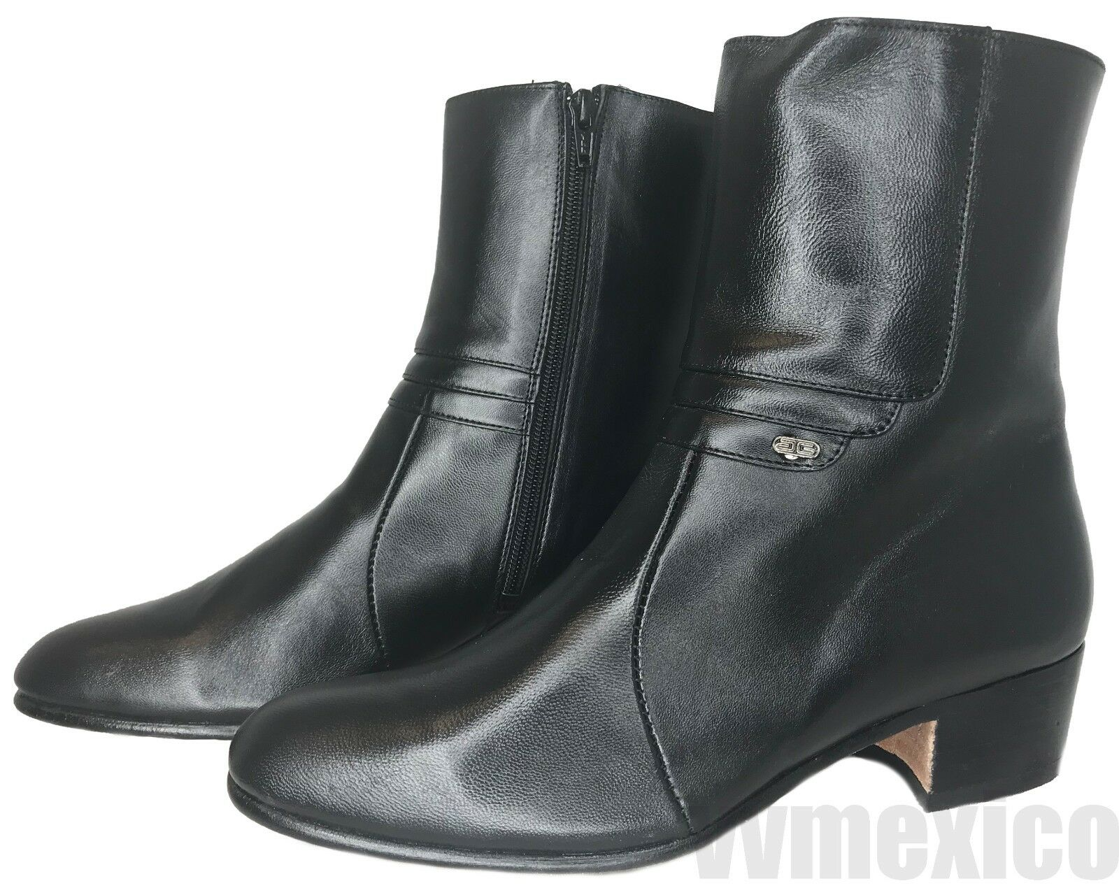 Para Hombres Medio botas Chelsea botas al tobillo con cremallera Western Wear  Todas Las Tallas