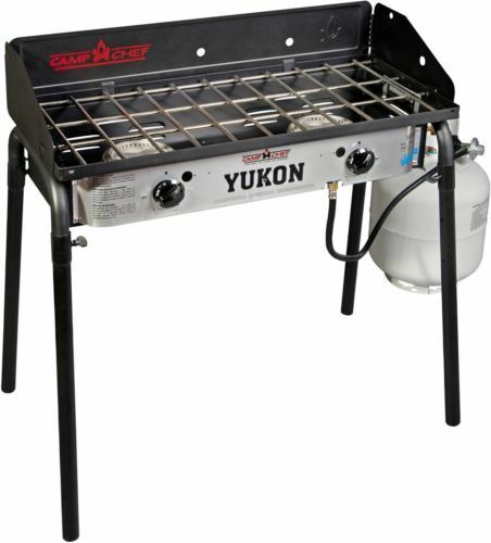 Camp Stove Yukon Two Burner  Range Cooking Outdoor Steel Camping Trips Durable  free shipping worldwide
