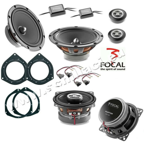 FOCAL 6 speakers kit for FIAT OPEL Vauxhall spacer rings adapters
