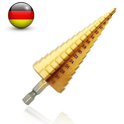 HSS Stufenbohrer Kegelbohrer Konusbohrer titannitriert 4-12 mm Verke