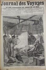 JOURNAL DES VOYAGES N° 620 de 1889 TERRITOIREINDIEN DE GUYANE AGONIE DE LAVEAU