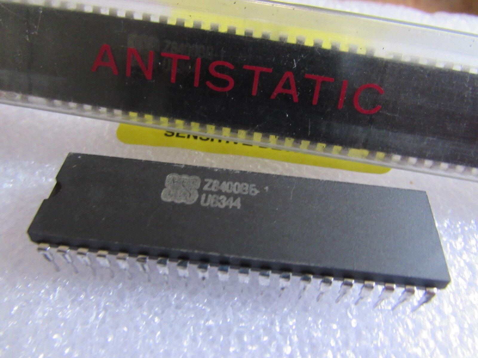 SGS or SCS Z8400BB1 Z80B CPU chip 40-pin IC 1987 vintage