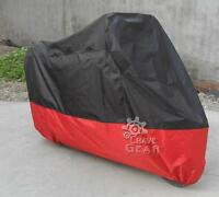 Black/ Red Xxxl Motorcycle Cover 180t For Honda Goldwing 1100 1200 1500 Gl