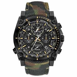 Bulova-Precisionist-Men-039-s-Quartz-Chronograph-Camouflage-Band-46mm-Watch-98B332