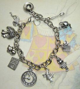 Alice In Wonderland Tea Party Charms Bracelet Rabbit