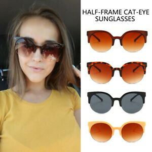 Fashion-Ladies-Cat-Eye-Vintage-Round-Sunglasses-Glasses-Eyewear-UV400-Shades-YK