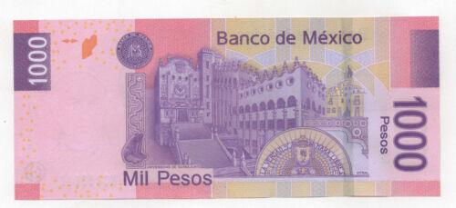 2007 UNC. PESOS HIDALGO NOV 20 MEXICO  PICK 127  MIL 1,000