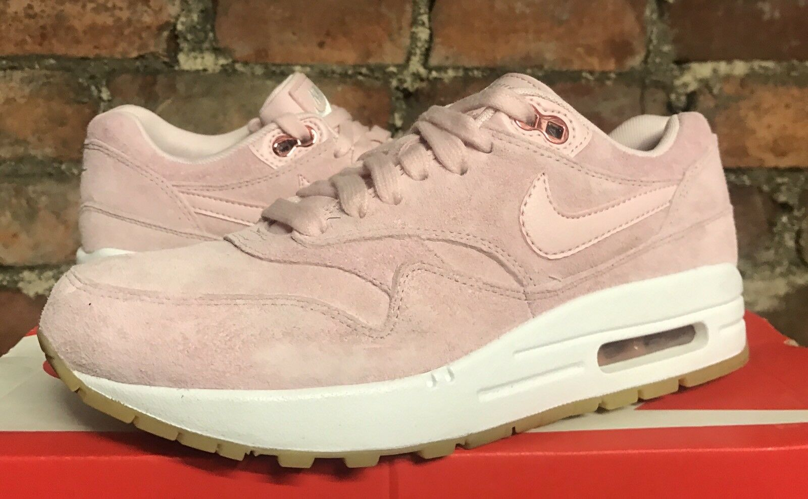 WOMENS NIKE AIR MAX 1 SD PRISM PINK WHITE UK8 EU42.5 US10.5 919484 600 TRAINERS