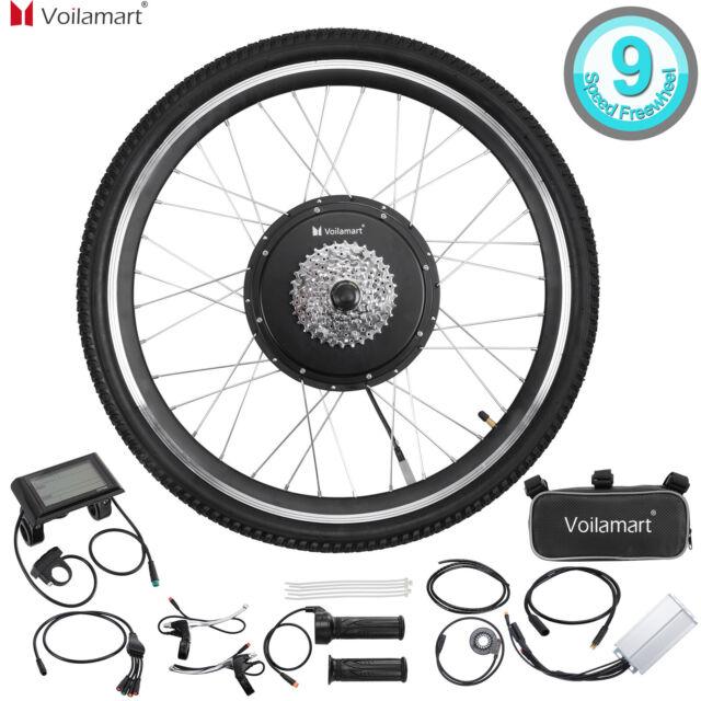 "26/""1500W Rear Wheel 48V Electric Bicycle Bike Motor Conversion Kit Hub LCD Meter"