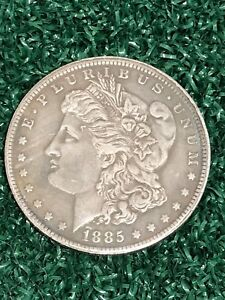 1885-Morgan-Dollar-Hobo-Skull-Head-Skeleton-Eagle-Zombie-Fantasy-Coin-USA-SELLER