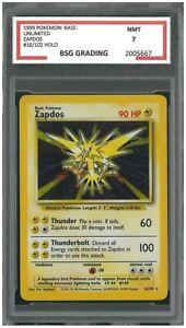 ZAPDOS #16/102 ~ 1999 Pokemon Base Unlimited Holo ~ BSG 7
