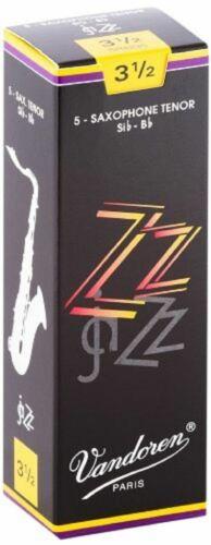 5 Pack Vandoren ZZ Jazz Tenor Saxophone Reeds Strength 3.5