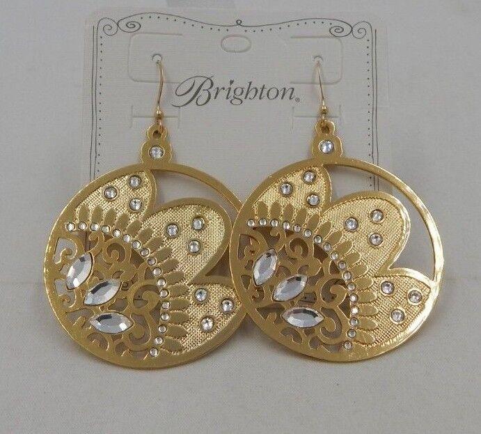 Brighton BLITZY BUDS French Wire Earrings JE5641 Swarovski Crystals  NWT