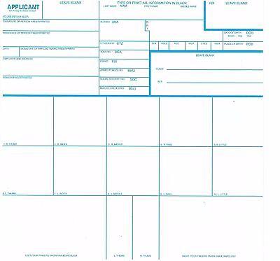 3 OFFICIAL FBI FD-258 FINGERPRINT CARDS PRIORITY SHIPPING