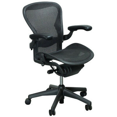 Herman Miller Aeron Office Chair Size B Fully Loaded Black