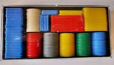SET VINTAGE RETRO PLASTIC GAMBLING GAMING POKER CHIPS COUNTERS FUN LAS VEGAS