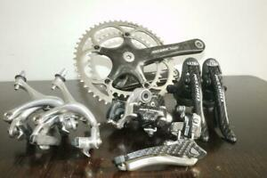 NEAR-MINT-CAMPAGNOLO-RECORD-CARBON-10-SPEED-GROUPSET-IN-AMAZING-CONDITION