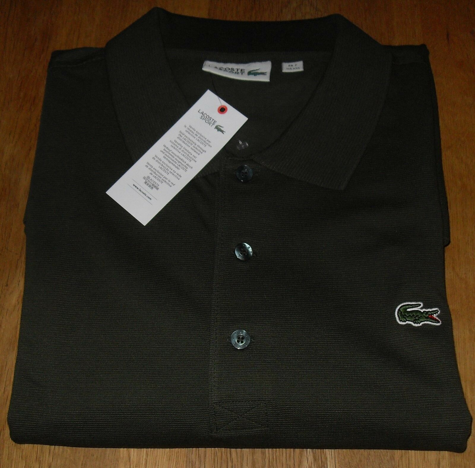 Lacoste Sport Alligator Long Sleeve Polo Shirt Size (7) 48  Chest