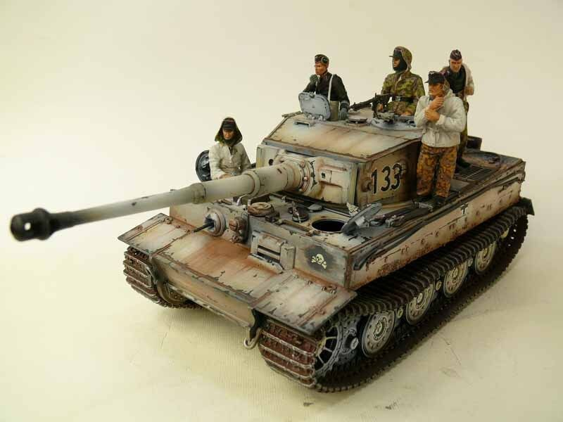 1 35 Built Winter Tiger I Late - Built 1 35 scale